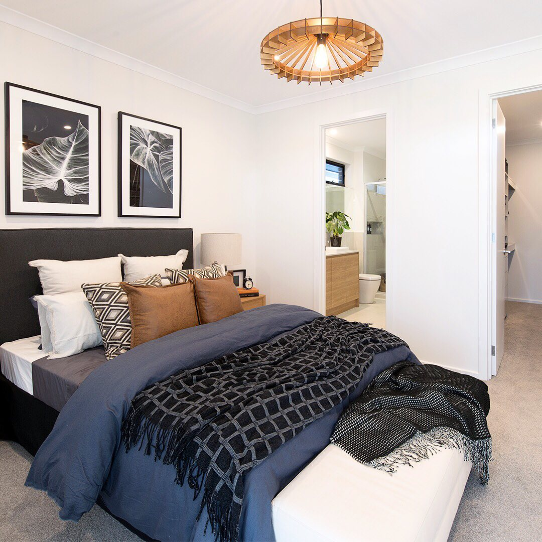 Add a little more privacy to your main bedroom with an ensuite and wal