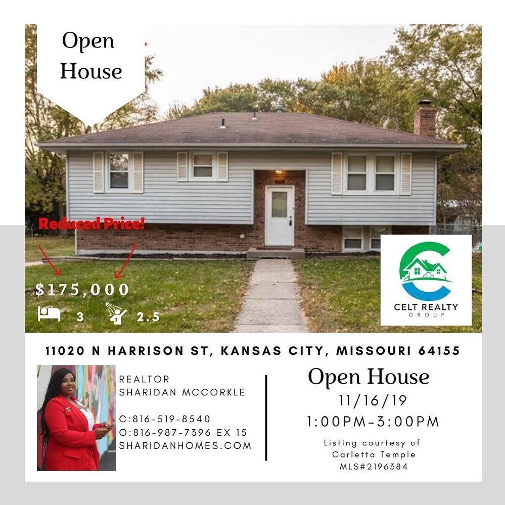 Recently reduced price ! 11020 N Harrison Street Kansas City, Missouri