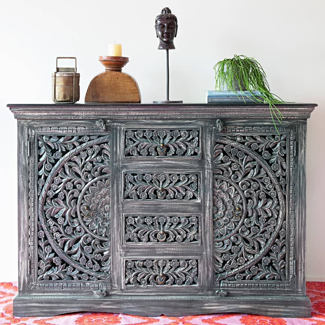 No need for of the colour… this one cabinet with its handcarved in