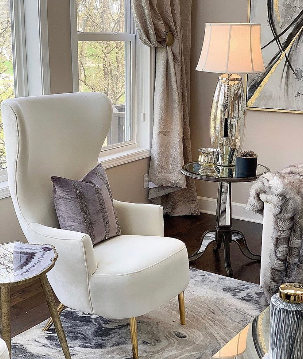 Loving this Accent ChairAvailable un Cream,Grey and Royal Blue …….