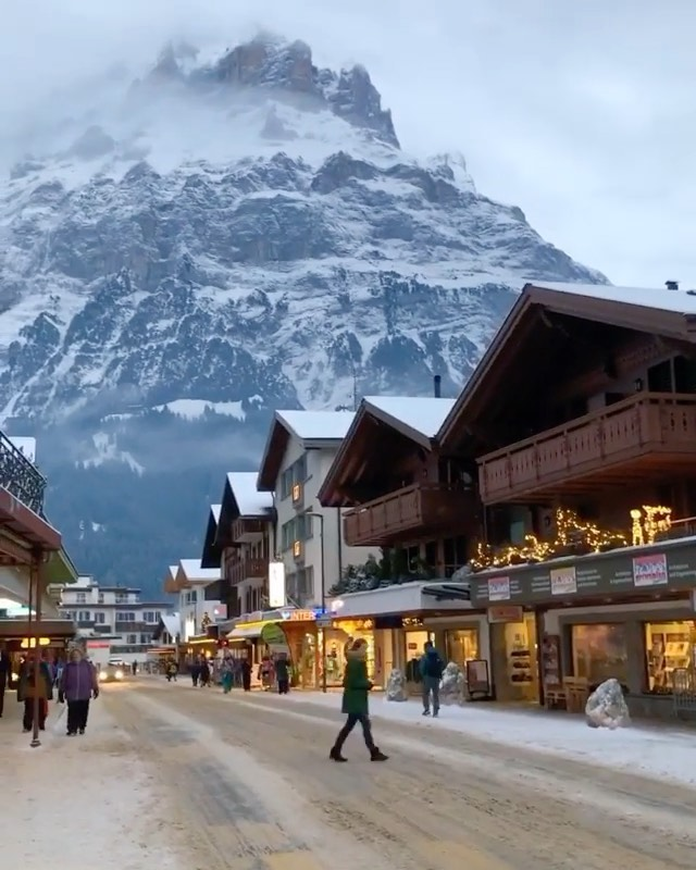 Winter in Grindelwald Have you been here before? Switzerland. Video b