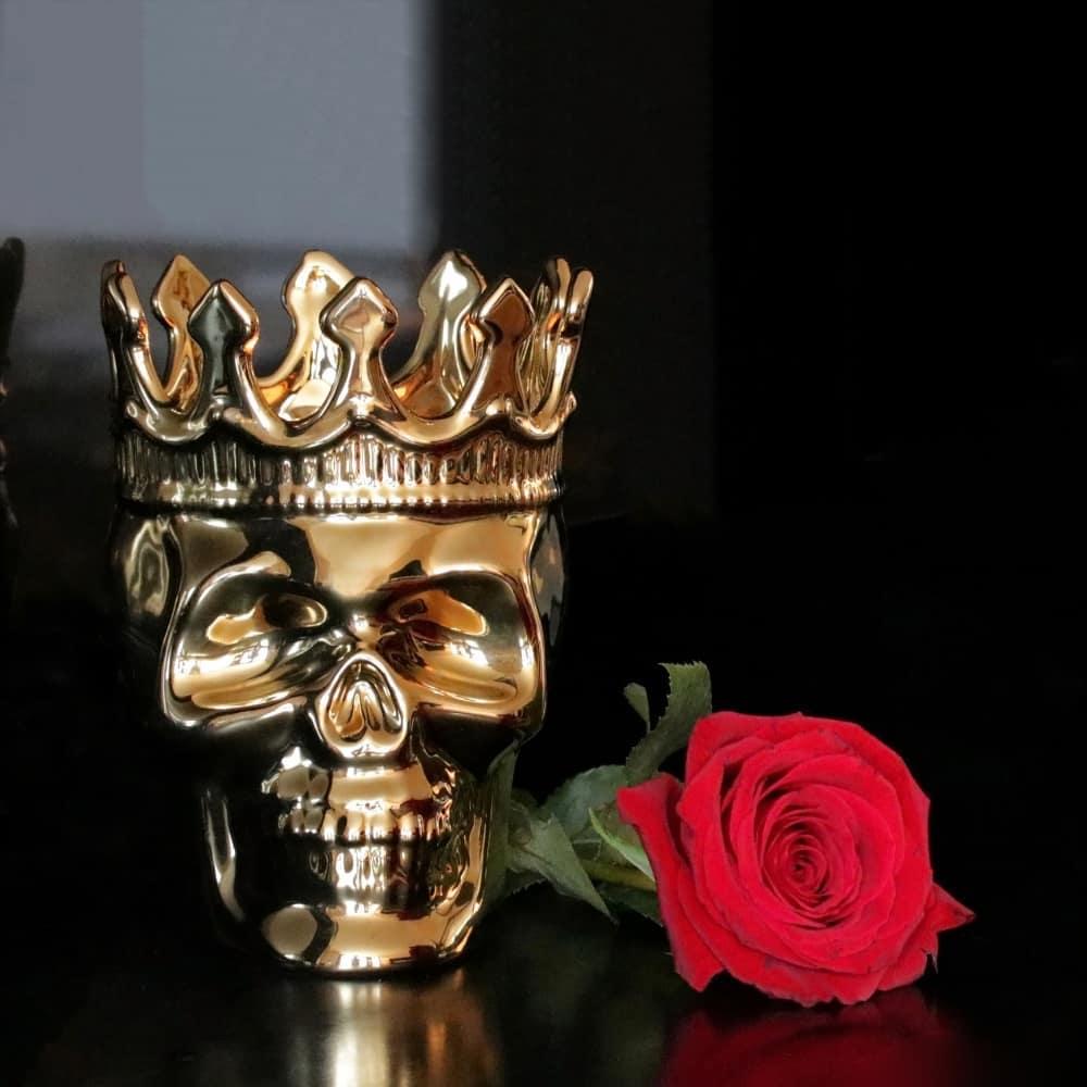Our Monte-Cristo Bonaparte Skull scented candle is a masterpiece, uniq